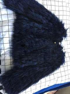 Seed kids size medium fur jacket