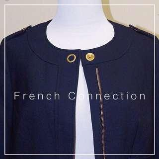 *Perfect Condition* French Connection Coat in Navy Women Size 0