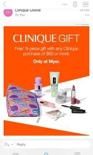 Clinique Gift Pack from March 2019 8 items all new, never been used. Skincare and makeup items