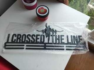 I crossed the line medal hanger ( free delivery)