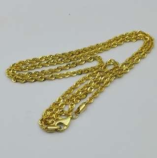 916 gold necklace 4.54 grams