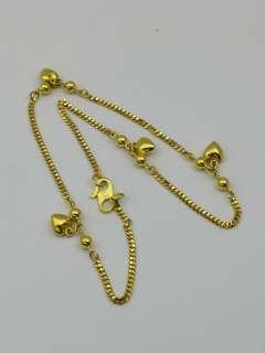 916 gold anklet adult