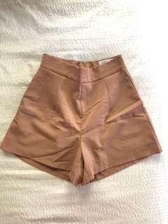 Princess Polly Brown High Waisted Shorts