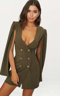 Khaki blazer dress Pretty Little Thing
