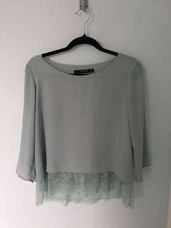 Zara Mint Blouse