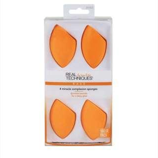 4 pack Real Techniques Miracle Complexion Sponge