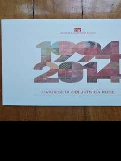 Croatia commemorative 10 & 20 kuna banknotes