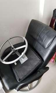 Free reclining chair and foot stool