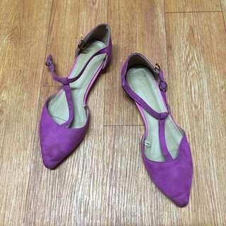 Parisian Pinkish purple Velvet Shoes