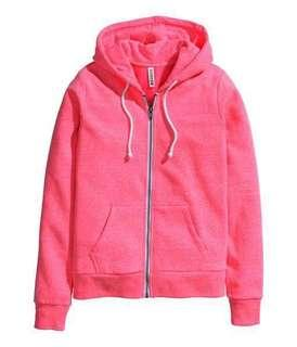 H&M Hooded Jacket in Pink
