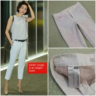 UNIQLO Cropped Pants (White JP 64)