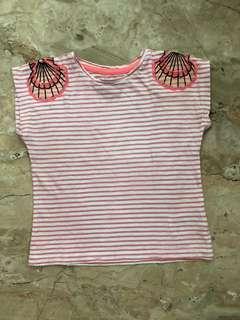 Baju anak motif kerang
