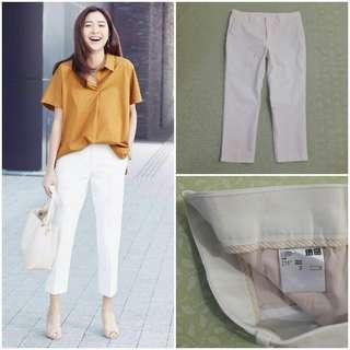 UNIQLO Cropped Pants (White JP 73)