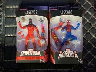 Marvel Legends Spiderman scarlet spider