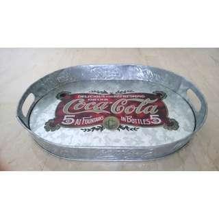 Coca-Cola Coke Oval Tray (Aluminium & Embossed)