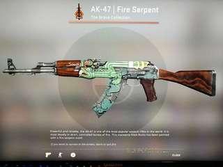 CSGO AK-47| Fire Serpent FT