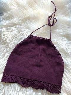 Backless Maroon Top