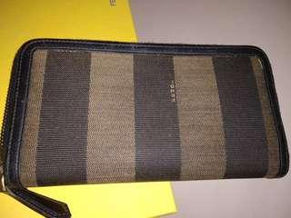 Fendi zipped long wallet very good condition with box