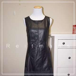 *NWT* Reitmans faux leather dress in black women size 9
