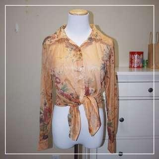 *NWT* Sheer floral blouse (fits a Women Size S-M)