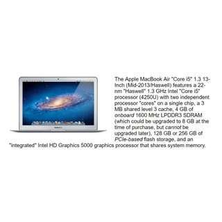 "🚚 Apple MacBook Air ""Core i5"" 1.3 13"" (Mid-2013)【【【零件機】】】"