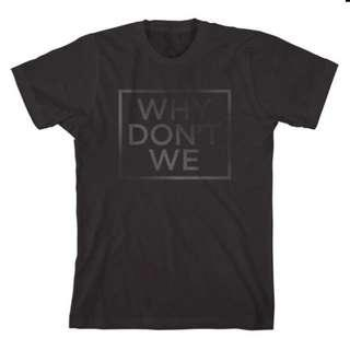OFFICIAL: WHY DON'T WE BLACK PRINT T-SHIRT