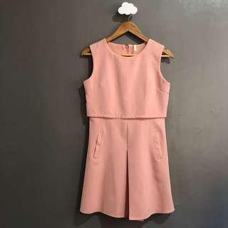 Pink layered dress