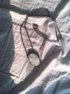 green raw amethyst long gold chain necklace