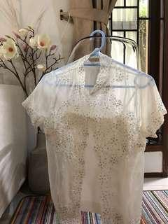 Preloved Kebaya Putih Payet