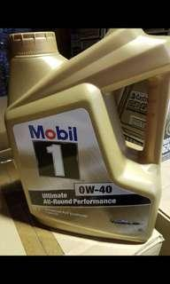 Mobil1 gold engine oil 0w40 Mobil 1