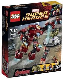 🚚 LEGO 76031 The Hulk Buster Smash