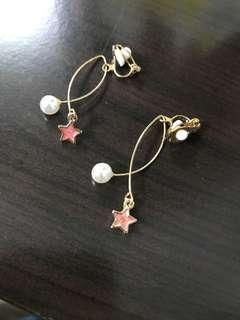 二手星星珍珠耳夾