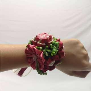 Handmade Japan fabric flower bridesmaids wrists corsage (Pre-order)