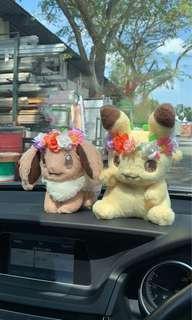 Pikachu and Eevee Easter Plushy