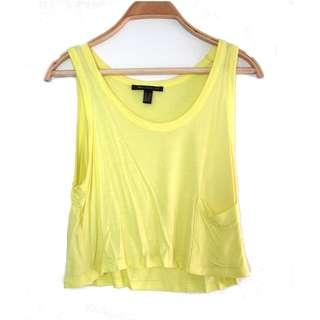 Mango Yellow Crop Top