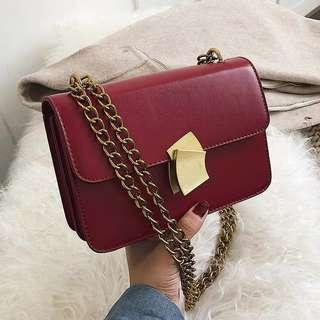 <P.O> Chic Korean Ulzzang Chain PU Handbag
