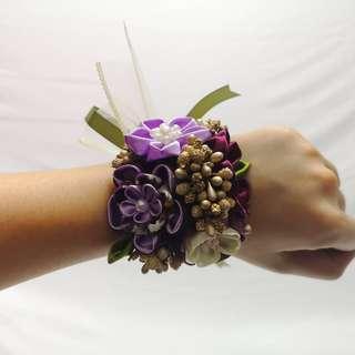 Handmade Japan fabric flower bridesmaids wrists corsage