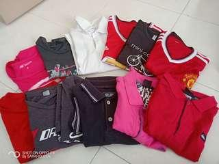 mix woman man shirts 12 pieces rm4