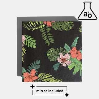 🚚 Tropical Floral Design Empty Cosmetic Palette Custom Makeup Eyeshadow Magnetic a2o