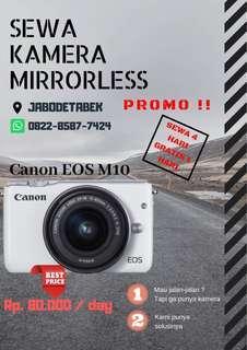 Sewa kamera Canon EOS M10