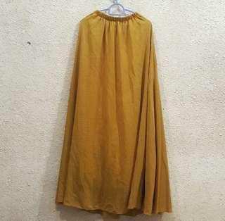 Long Skirt Mustard #STB50