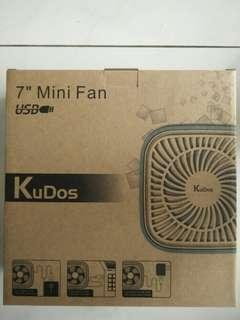 "Brand New KuDos USB 7"" Mini Fan"
