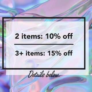 🌊 Bundle Discount ☔️