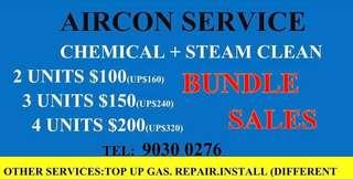 chemical steam aircon cleaning