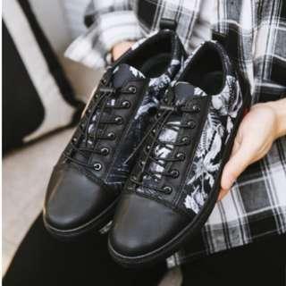 Men's Korean Youth Trend Wild Casual Canvas Sneakers [Black/Color]