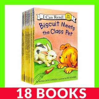 I Can Read - Biscuit Collection - 18 Books
