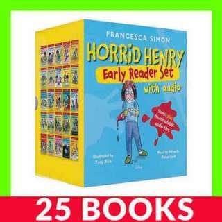Horrid Henry Early Reader Set - 25 Books