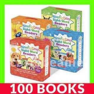 Nonfiction Sight Word Readers (Levels A to D) - 100 Books