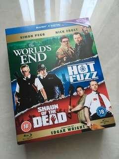 Edgar Wright's The Three Flavours Cornetto Trilogy (Shaun of the Dead, Hot Fuzz, The World's End 3 in 1)
