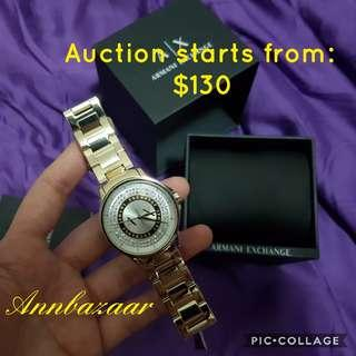 AUCTION 'Like and Bid' TIME! Armani Exchange AX4321 Ladies Studded Watch Retail Price: SGD300+ (100% Authentic)